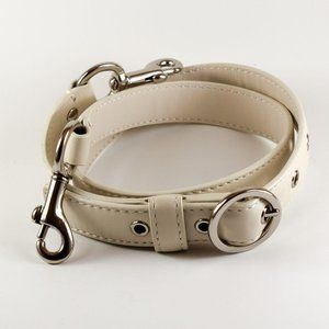 COACH WHITE LEATHER REPLACEMENT STRAP NICKEL